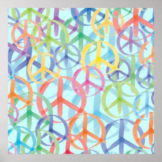 Friedenssymbol-Kunst Poster