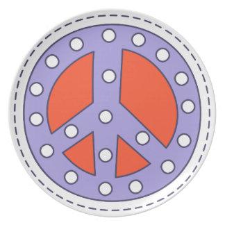 Friedenssymbol Melaminteller
