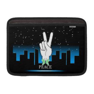 Friedenssymbol mit einem Stadt-Hintergrund Sleeve Fürs MacBook Air