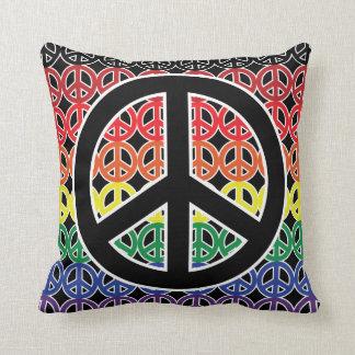 Friedenssymbol-Regenbogen-Aufstellung Kissen