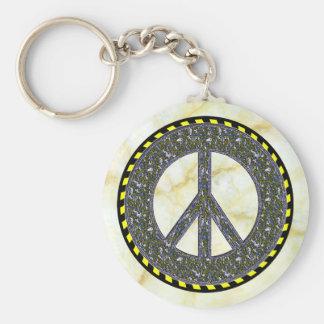 Friedenssymbol Standard Runder Schlüsselanhänger