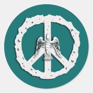 Friedenssymbol-u. -tauben-Aufkleber