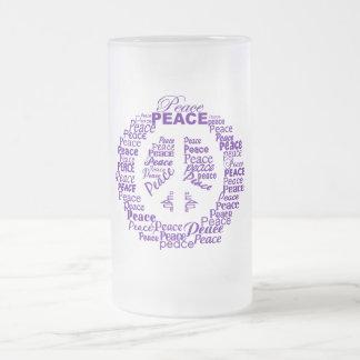 FriedensTasse - wählen Sie Art u. Farbe Mattglas Bierglas