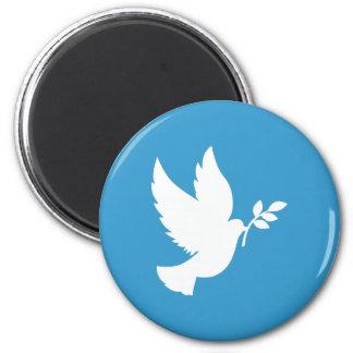 Friedenstaube Runder Magnet 5,7 Cm