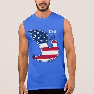 Friedenstaube. Patriotische Sleeveless T - Shirts