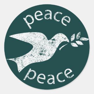 Friedenstaube Runder Aufkleber