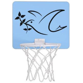 Friedenstauben-Ölzweig Mini Basketball Netz