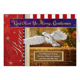 Friedenstauben-patriotische Weihnachtskarte Karte