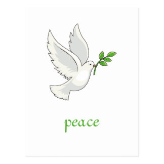 Friedenstauben-Postkarte Postkarte