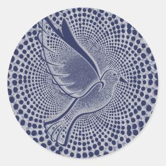 Friedenstauben-Umschlag-Aufkleber Runder Aufkleber
