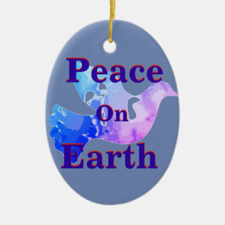 Friedenstauben-Verzierung Keramik Ornament