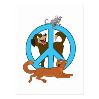 Friedenstiere Postkarte