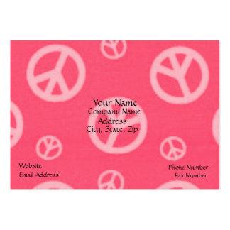 FRIEDENSVisitenkarten - ROSA - GESCHÄFT - ZEICHEN Mini-Visitenkarten
