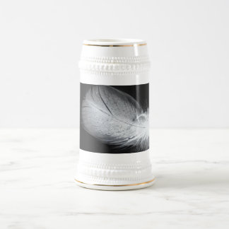 Friedensweiße Feder-schönes stilles Bierglas