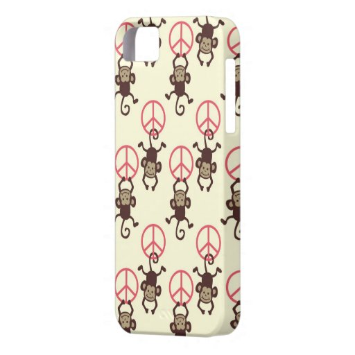 Friedenszeichen-Affen iPhone 5 Schutzhülle