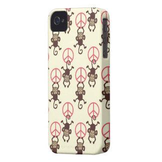 Friedenszeichen-Affen iPhone 4 Hüllen