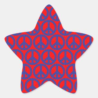 Friedenszeichen Stern-Aufkleber