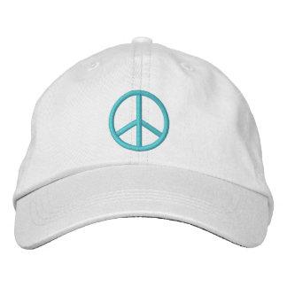 Friedenszeichen Bestickte Baseballkappe