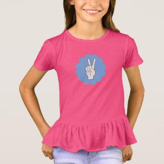 Friedenszeichen-Blumen-Power-Mädchen-Shirt T-Shirt