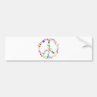 Friedenszeichen der Blumen Autosticker