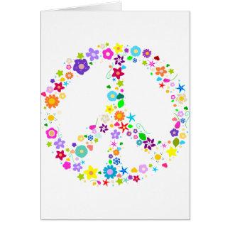 Friedenszeichen der Blumen Karte
