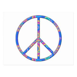 Friedenszeichen - Friedenssymbol Postkarte
