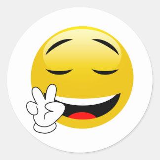Friedenszeichen handliche Emoji Aufkleber