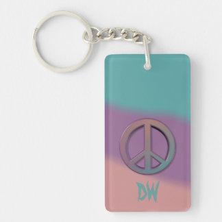 Friedenszeichen-Initialen Schlüsselanhänger