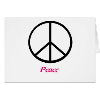 Friedenszeichen Karte