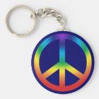 Friedenszeichen Keychain in Chakra Farben Schlüsselanhänger