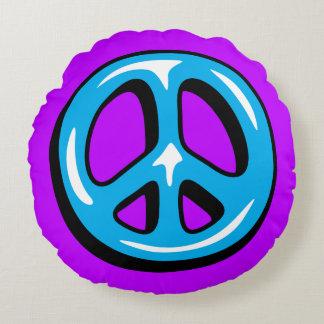 Friedenszeichen-Kissen Rundes Kissen