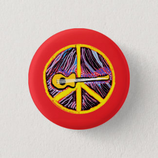 Friedenszeichen-Knopf Runder Button 2,5 Cm