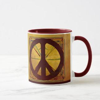 Friedenszeichen-Kodex-Antiken-Kunst-Kaffee-Tasse Tasse