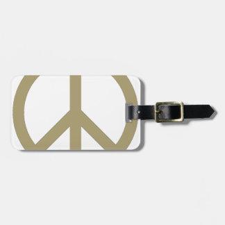 Friedenszeichen Kofferanhänger