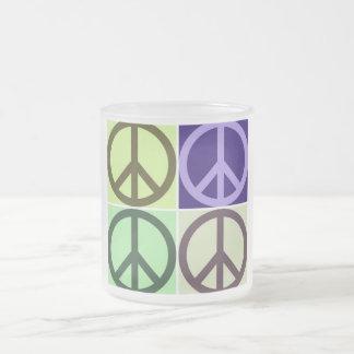 Friedenszeichen Mattglastasse