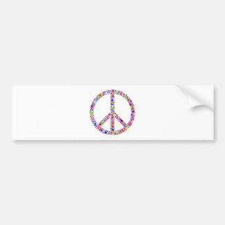 Friedenszeichen - mehrfarbiges Rosa Autoaufkleber