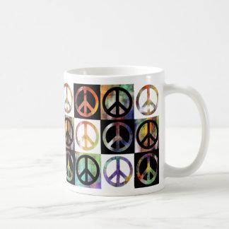 Friedenszeichen-Mosaik Kaffeetasse