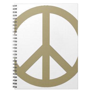 Friedenszeichen Notizblock