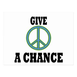 Friedenszeichen Postkarte