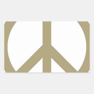 Friedenszeichen Rechteckiger Aufkleber