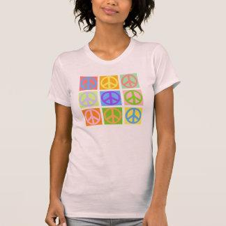 Friedenszeichen-Rosa-T - Shirt - MEHR färbt