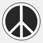 Friedenszeichen Runde Sticker