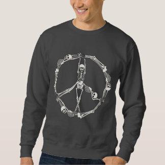 Friedenszeichen-Skelette Sweatshirt
