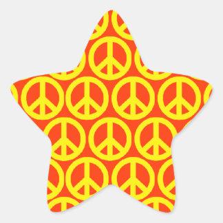 Friedenszeichen Stern Aufkleber
