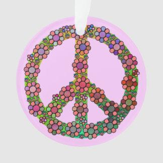 Friedenszeichen-Symbol-Blume bunt Ornament