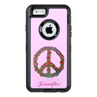 Friedenszeichen-Symbol-Blumen-hübsche mit OtterBox iPhone 6/6s Hülle