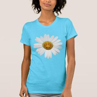 Friedenszeichen-T - Shirt-Blumen-Power - T-Shirt