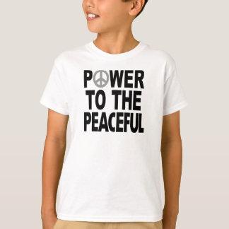 """Friedenszeichen-T - Shirt - """"Power zu dem"""