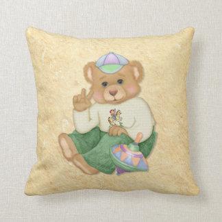 Friedenszeichen-Teddybär Kissen