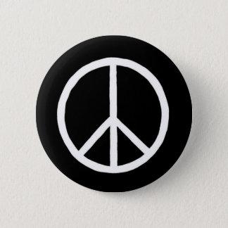 Friedenszeichenknopf Runder Button 5,7 Cm
